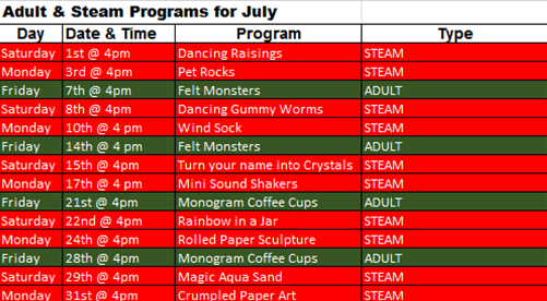 steam adult july
